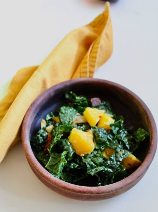 Wilted Bacon Kale Salad